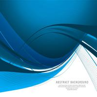 Beautiful stylish blue wave vector design