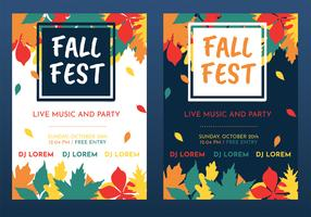 Fall Fest Flyer Vector Design