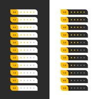 stylish dark and light yellow star rating symbols