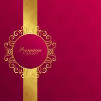 royal invitation golden background design