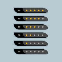 estrella símbolo creativo de clasificación para el tema negro