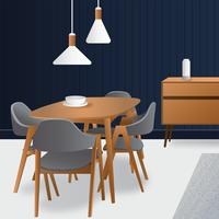 Dining Room Vector Design