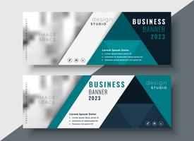 corporate business banner with text and image space