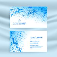 abstract blue mosaic pattern business card