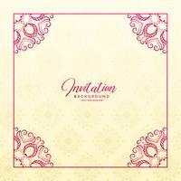 stylish floral border frame invitation background
