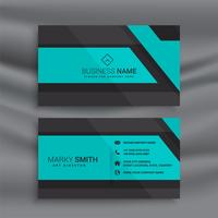 stylish blue business card design