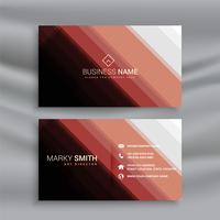 geometric business card design template