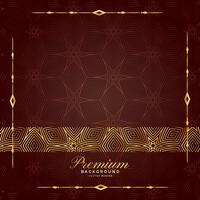 vacker golden luxury mönster premium bakgrund