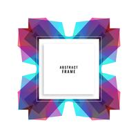 abstract vibrant frame design background