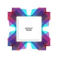 Fondo de diseño abstracto marco vibrante