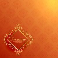 stilig orange orange gyllene inbjudanbakgrund