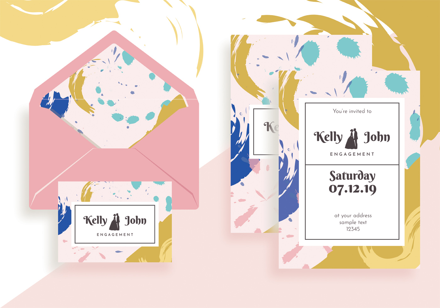Engagement Invitation Template Vector Design - Download Free