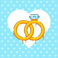 Romantische Engagement-Vorschlags-Vektoren