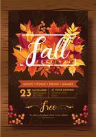 Fall Festival Flyer Vector Design