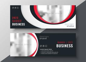 stilvolle rote Business-Banner-Vorlage