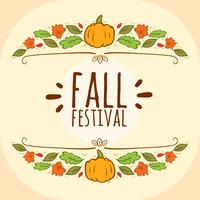 Hand Drawn Fall Fastival Vector