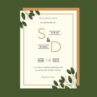 Invitation Template Green Vector