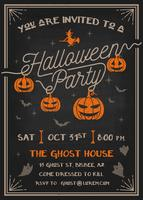 Typography Halloween Party Invitation card