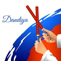 Dandiya Stick Dance Vector