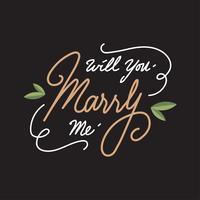 ¿Quieres casarte conmigo Vector de la carta