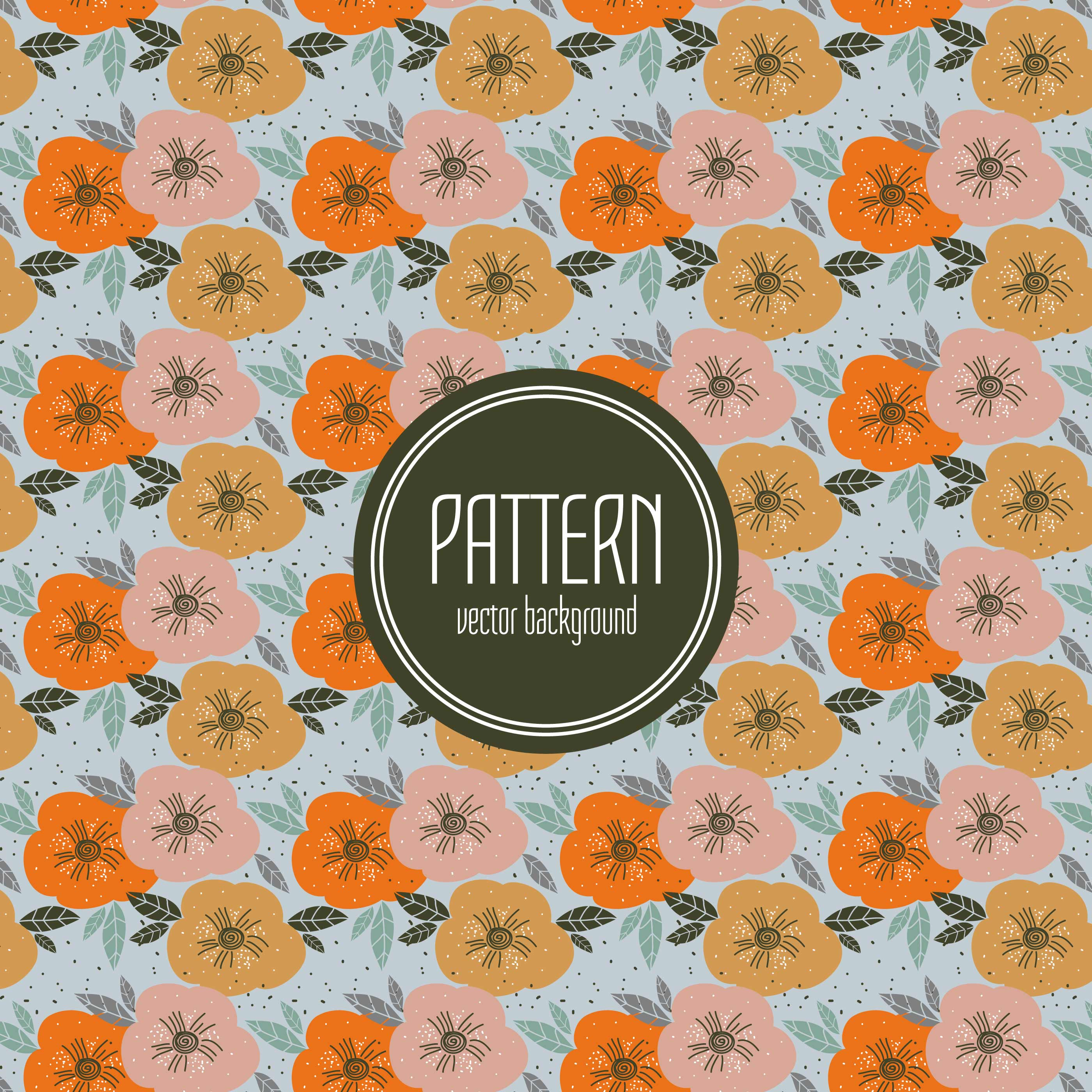 Fall Color Floral Pattern Download Free Vectors Clipart