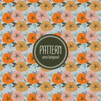 Fall Color Floral Pattern
