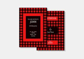 Buffalo Plaid Invitation Vector Template