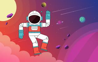 Vector Beautiful Outer Space Illustration