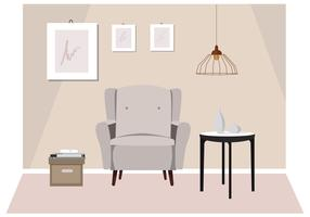 Vector Room et mobilier Illustration