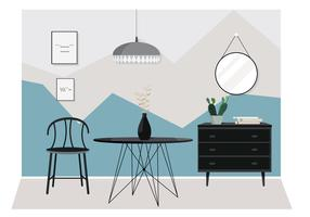 Vector Illustration de mobilier moderne