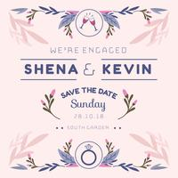 Siamo Engaged Invitation Template Vector