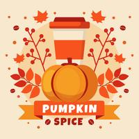 Pumpkin Spice Compotition Illustration
