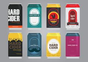 Apple Cider Slush Refreshing Energy Drink Package Design Template Design Illustration