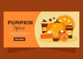 Pumpkin Spice Banner Vector