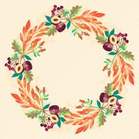 Vector Watercolor Autumn Wreath
