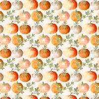Vector Pumpkins Seamless Pattern