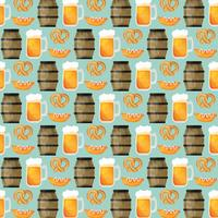 Vector Oktoberfest Elements Pattern