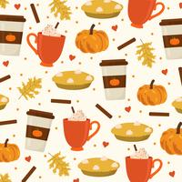 Pumpkin Spice Vector Background