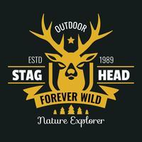 Stag hoofd Vintage Logo