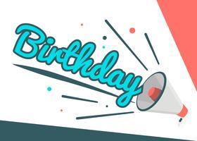 Cartel de cumpleaños