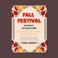 Fall Festival Mall Vector