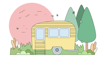 Wohnwagen-Reise-Vektor