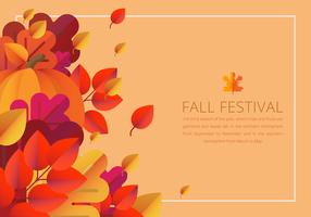 Fall Festival Colorful Border Template vector