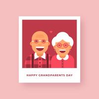Happy Grandparents Day Polaroid Vector Card