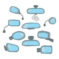 Doodled-rear-view-mirrors