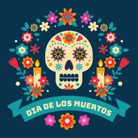 Dia De Los Muertos Vektor Bakgrund