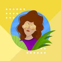 Flat-girl-with-red-wavy-hair-and-glasses-character-vector-illustration
