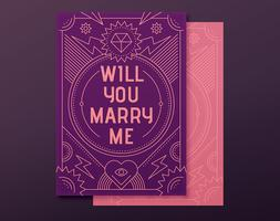 Engagement proposal card
