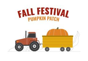 Hayrides & Giant Pumpkin vector