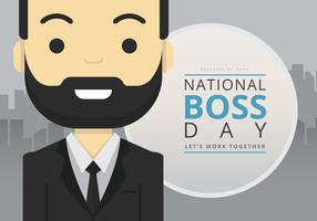 National Boss Day, Gentlemen Illustration